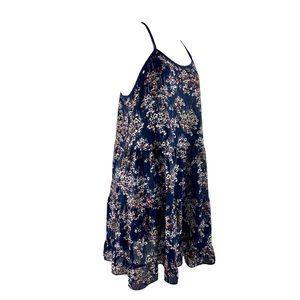 Lily White Mini Summer Dress Semi Sheer Sz L EUC